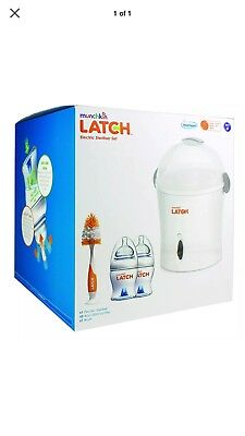 Munchkin Latch Electric Steriliser Kit include bottle and brush