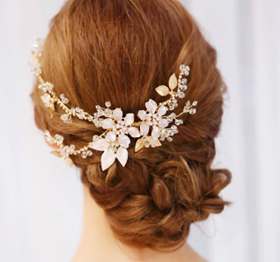 Gold Blush Bridal Hair Comb wedding hair accessory