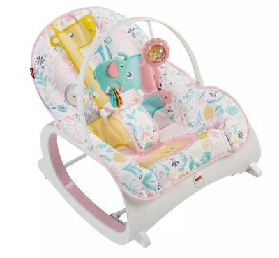 Fisher-Price Infant-to-Toddler Rocker Pink GROWS ALONG WITH BABY! Flowers