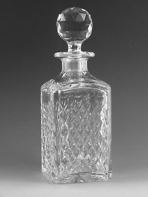 """STUART Crystal - HARDWICKE Cut - Square Decanter / Decanters - 9 3/4"""" (2nd)"""