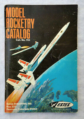 Vintage 1970 Estes Industries Model Rocketry Catalog 701; rocket catalogue, book