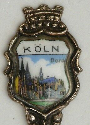 Koln Cologe Germany City Town Europe Silver 800 Collector Spoon Spoons49
