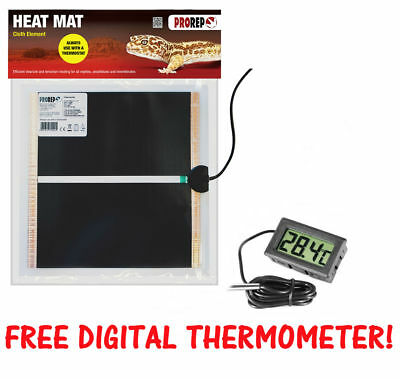 ProRep Heat Mat - Reptile Vivarium Heating - Full Range with Free Thermometer!
