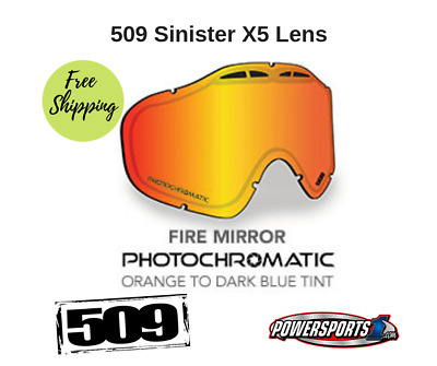 509 Sinister X-5 Goggle Lenses Photochromatic Fire Mirror /blue 509-X5Len-16-Pob
