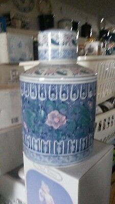 Imported Blue and White Ginger Jar