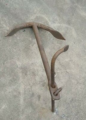 """Old Sea Anchor In Good Usable Condition,  20 1/2"""" x 28 1/4"""" tall, 28 Lbs"""