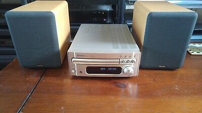 Denon Rcd-M33 Cd Receiver Hi-Fi System & Sc-M53 Speakers & Remote Control Rc-999