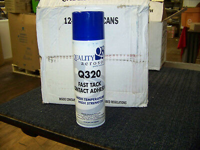 Quality Aerosol Q320 Fast Tack Contact Adhesive 13 oz. Spray Can 12 ea. New