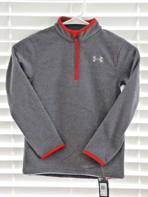 Under Armour  Boys Toddler/Youth Gray/red half zip jacket Size 5