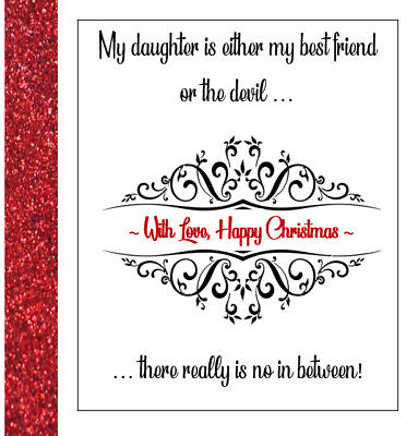 Daughtermy Best Friend Or The Devil Christmas Card Personalised