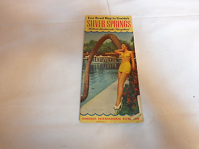1951 Florida Silver Springs Road Map