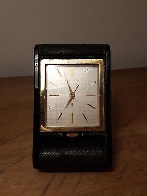 Vintage Jaeger LeCoultre 8-day travel / desk clock