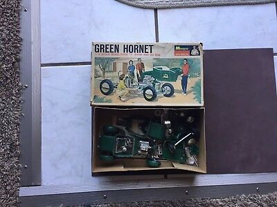 Vintage  Monogram Green Hornet #pc61 Built 1/24 Scale Kit With Extras From 1960