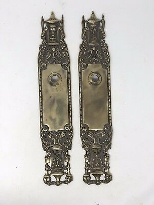 Antique Brass Door Knob Back Plates