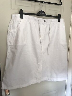 8a2cb5a5faae4 LOVELY LADIES PLUS Size White Marisota Skirt - Size 30 - NEW - EUR 9 ...