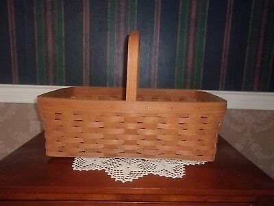 Longaberger 1991 Large Gathering Basket - 1 Stationary Handle