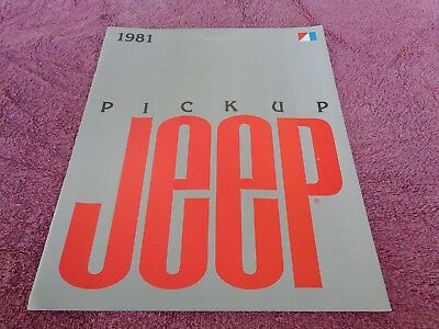 Vintage 1981 81 Jeep pickup J10 original showroom sales brochure MINT Honcho