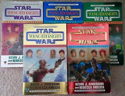 Lot of 5 STAR WARS Books - Young Jedi Knights - (paperback,97-98) First Editions