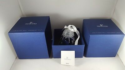 New Swarovski Crystal Annual Christmas Bell 2017 Ornament NIB Collectible Xmas