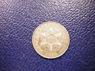 1852 U.S.(3) Three Cent Silver (Trime) / Very Fine