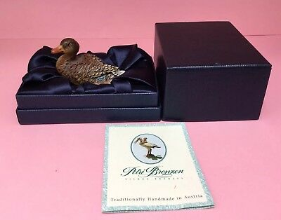 Petris Vienna Cold Painted Bronze Duck Boxed With Certificate