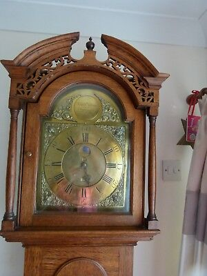Rare Georgian Period Oak Cased Grandfather clock (Isaac Lancaster 1744 - 1760)
