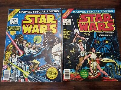 Vintage Star Wars #1 and #2 Marvel Special Edition Large Comic Books