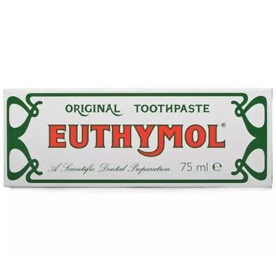 12x Euthymol Original Toothpaste Brand of Antiseptic - 75ml
