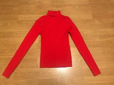 Girls Red Next Polo Neck Ribbed Jumper - Age 14 Years - Worn Once