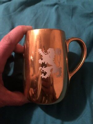 Coors Gold And A Silver Porcelain Beer Mugs Vintage