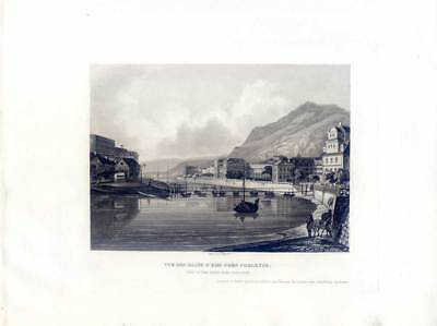 Bad Ems - Aquatintaradierung - Bleuler 1843