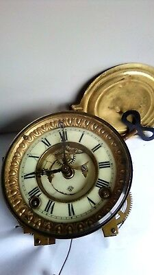 mantel clock movement and dial & key  Fully working