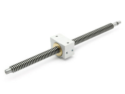 Trapezoidal Threaded Spindle Tr 16x8P4 Right Ready to Install 442mm + Nut