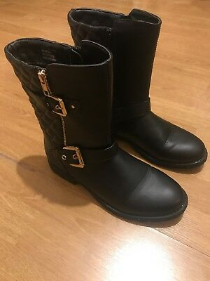 Kids / Girls / Women's M&S Black Zip Up Boots - Size UK 6