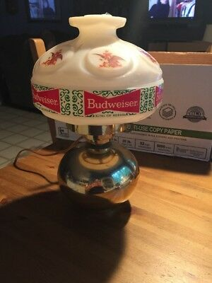Vintage Budweiser Bar Lamp Wall Mount or Table Top Works!