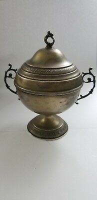 Antique Silver 800 Cup and Cover