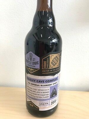 Bottle Logic Great Notion Paisley Cave Blueberry Stout Smore Collectible Bottle