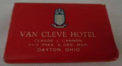 Dayton Ohio OH Van Cleve Hotel Bar Soap Vintage Original Paper Camay Cannon VP