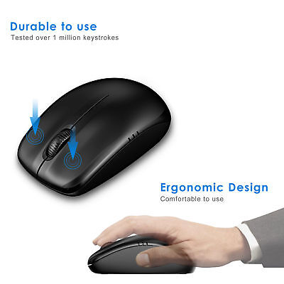 JETech 2.4Ghz Wireless Mobile Optical Mouse NEW