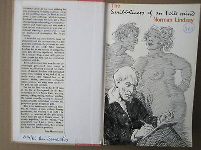 The Scribblings of an idle mind.NORMAN LINDSAY,1966,Signed,Ltd.Edit,VGC.Biograph