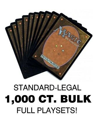 1000 CARD MTG BULK LOT! Standard Legal, Sorted Com/Unc, Max 4x Playset Copies