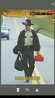 Topps The Walking Dead RICK GRIMES (OUT OF FUEL) VINTAGE Digital Card Trader TWD