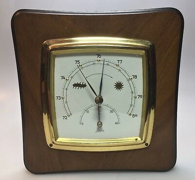 Antike Wetterstation / weather station / Emil Scholz / Barometer / Thermometer