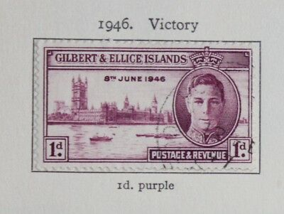 Gilbert and Ellice Islands KGVI 1946 Victory set (2) SG55-6 Fine Used