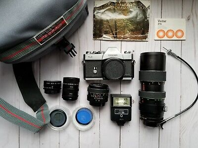 Sears TLS 1000mx film camera WORKING 80-200mm lens and 28mm lens and accessories