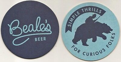 2 Beer Coasters from Beale's Brew Pub Bedford Virginia