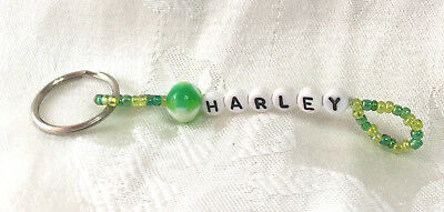 HARLEY personalized beaded men or boys keychain-NEW-Handmade