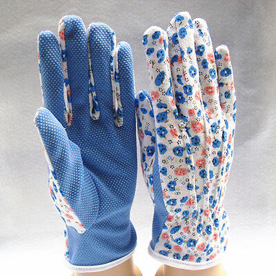 One Pair Garden Gloves Simple Useful Gardening Women Soft Jersey One Size 2016FA