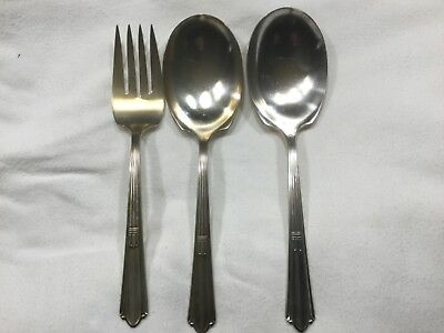 Stratford Plat Special IS Cotillion Serving Fork And Spoons