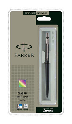 Genuine Parker Classic Matt Matte Ct Black Ball Point Pen, Stainless Steel Gift